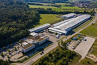 22,000 m² HUBER main production factory and offices in Germany